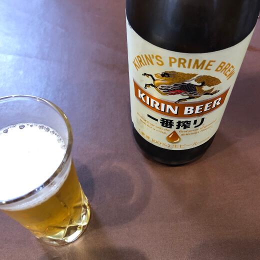 大新園のビールはキリン