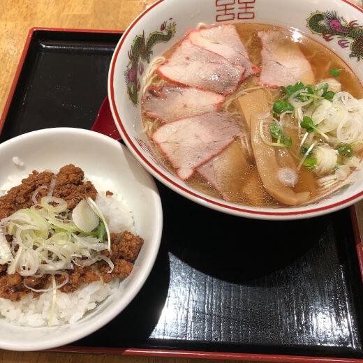 肉味噌ご飯と元町ラーメン