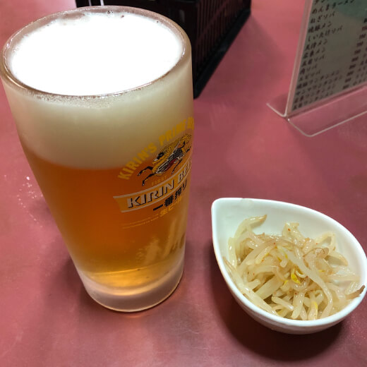 酔来軒 ビール