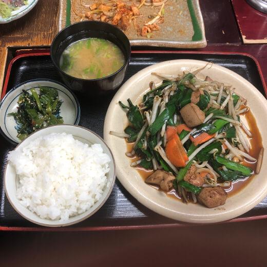 麺恋亭 レバニラ定食