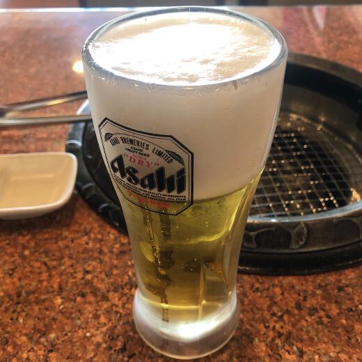 東京山 生ビール