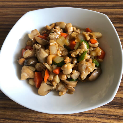 客満堂 鶏肉とカシューナッツの炒め物