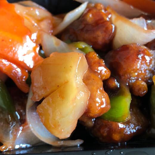 上海豫園 酢豚