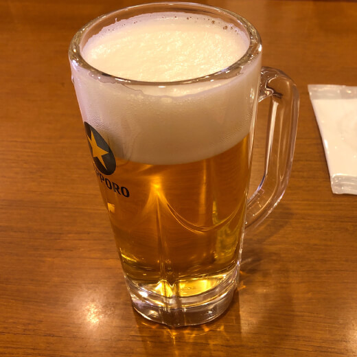 蓮香園 生ビール