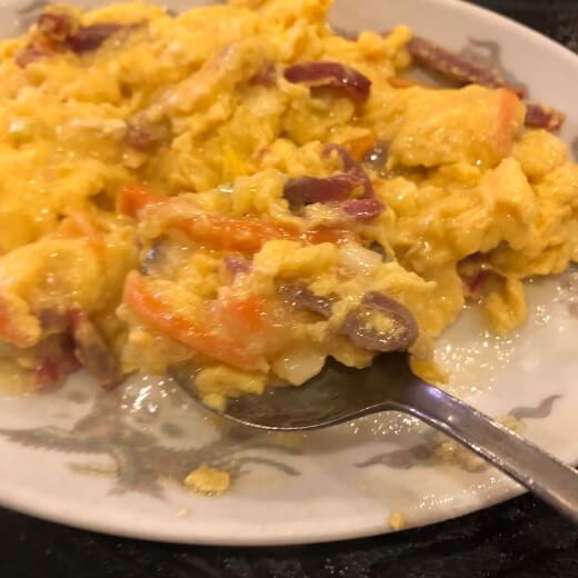 蓮香園 チャーシューと卵炒め