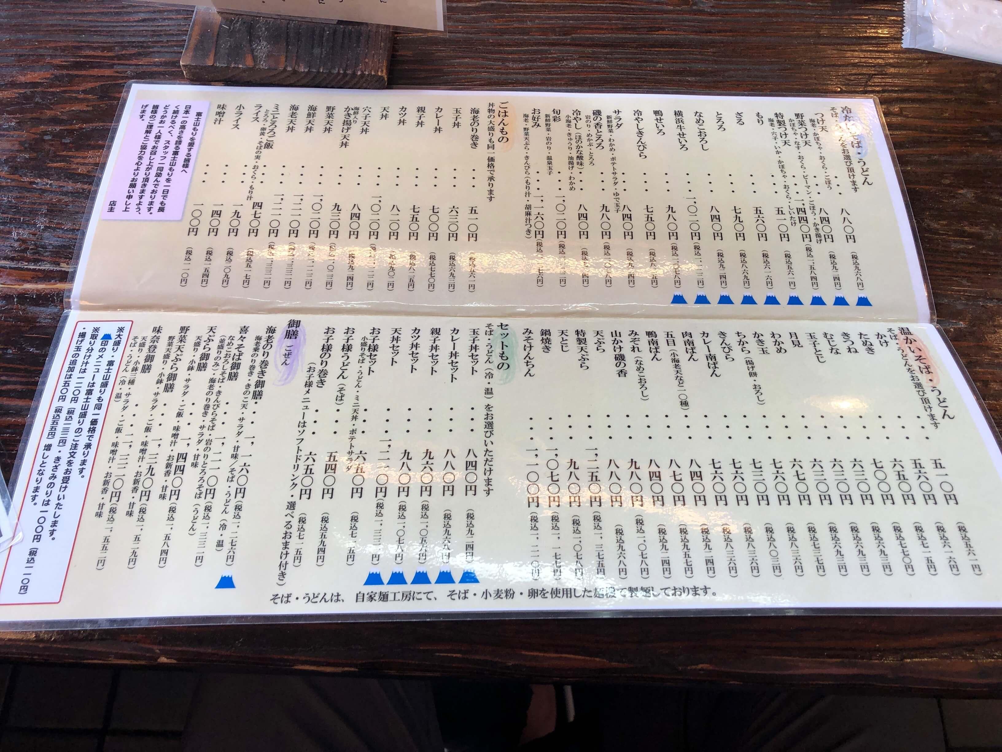 味奈登庵 総本店メニュー2020.07.02_02