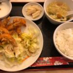 華錦飯店 ソフトシュリンプの塩胡椒揚げ定食