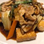 鴻 豚バラと揚げ豆腐のピリ辛みそ煮