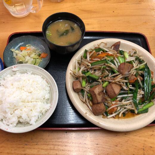 麺恋亭 レバニラ炒め定食