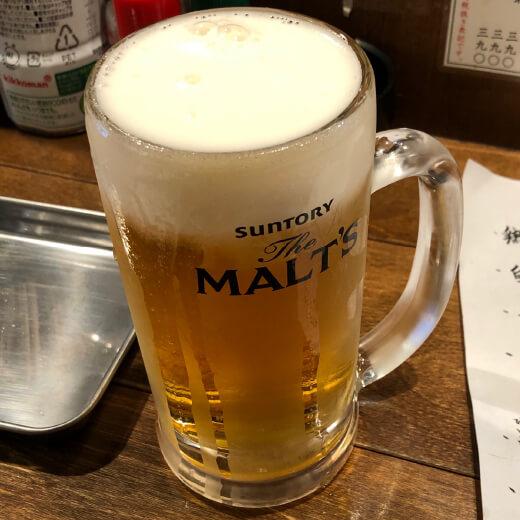 その日暮らし 生ビール