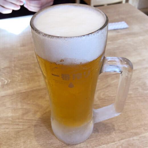 ホームベース伊勢佐木町 生ビール