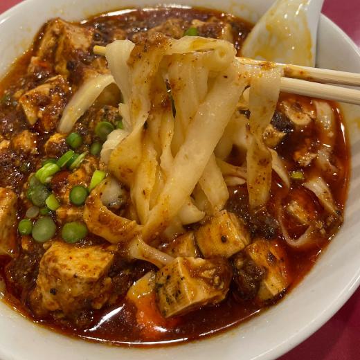 京華楼 別館 麻婆豆腐刀削麺 麺