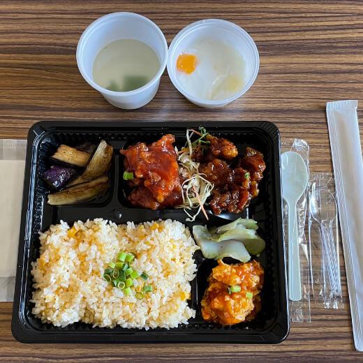 DRAGON酒家 関内店 鶏肉の赤・黒酢唐揚げ弁当