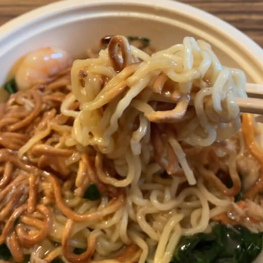 皇朝のデリバリー タラバ蟹・海老入り餡掛け焼きそば 麺